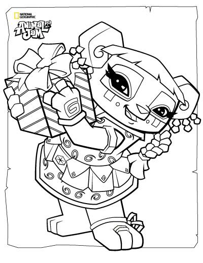 animal jam coloring pages jamaalidays - photo#4