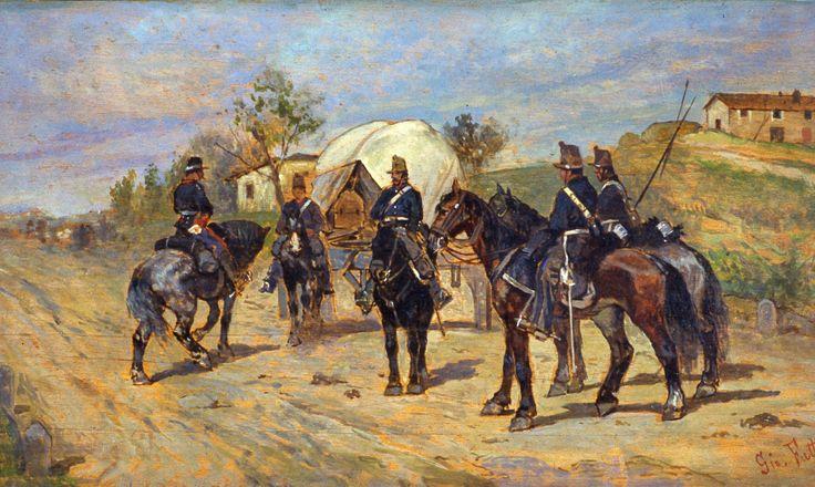 Fattori Giovanni, Sosta di cavalleria (Galleria d'Arte Moderna Ricci Oddi, Piacenza)