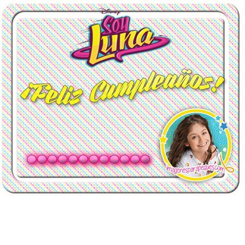 Imagenes de Feliz Cumpleaños Soy Luna