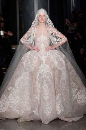 Elie Saab Couture SS13. For more wedding dress inspiration see:  http://www.elleuk.com/style/wedding-blog/couture-bride
