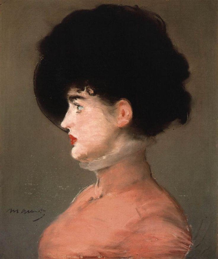 Edouard Manet, Portrait of Irma Brunner with Black Hat, 1880, Pastel on canvas, 54 x 41 cm, Musée d'Orsay, Paris