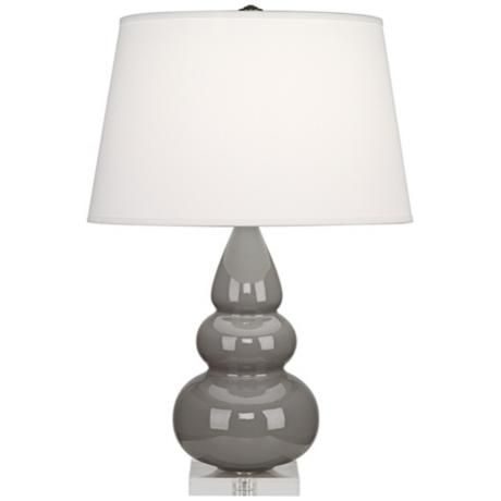 Robert Abbey Taupe Triple Gourd Ceramic Table Lamp V4264