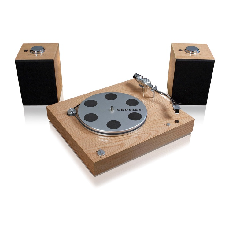 audiophile turntable by crosley radio. easy to use system lets you spin and listen to records all while converting them to digital files. currently only $150 on fab.com (40% less than retail)