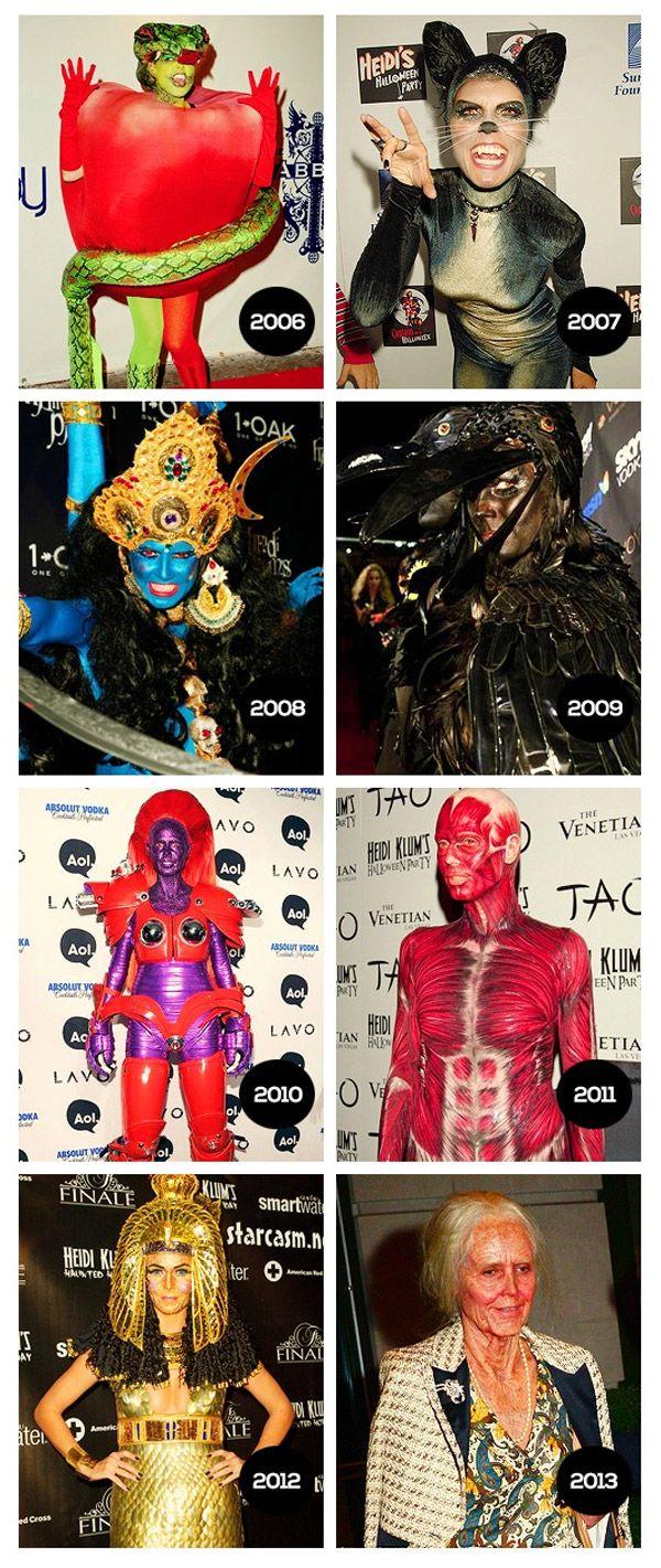 Los disfraces de Halloween de Heidi Klum