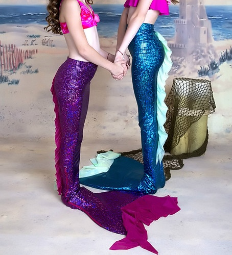"Add this to your list of projects please!! Aislin would flip!!  ""Dragon Tail"" Style Swimmable Mermaid Tail"