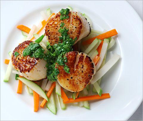 scallops with chimichurri sauce seared ahi tuna with chimichurri sauce ...