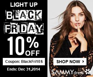 10% OFF Black Friday Coupon for ALL @sammydress.com: BlackFri10. (Ends: Dec 31,2014)