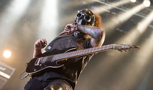 Heavy metal band AntiClone performing live on stage at Bloodstock Festival at Catton Park on August 12 2016 in Burton upon Trent England