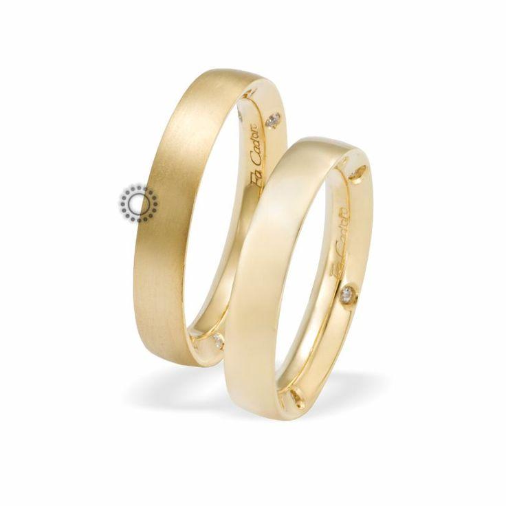 Βέρες γάμου Facadoro 27Α/27Γ - Ένα απλό αλλά μοντέρνο σχέδιο από βέρες FaCadoro με διαμάντια ή χωρίς | Βέρες γάμου ΤΣΑΛΔΑΡΗΣ #βέρες #βερες #γάμου #gold #facadoro #tsaldaris