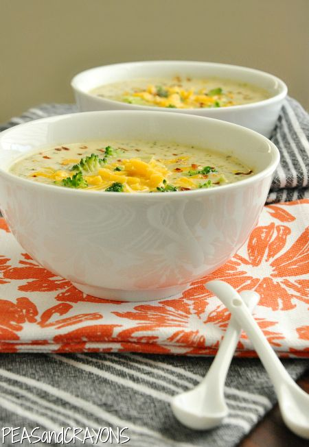 Broccoli and 2 cheese soup. my favorite soup Archives - Peas And Crayons