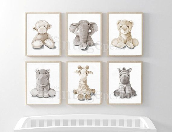 Nursery Animal Print Safari Nursery Print Baby Animal