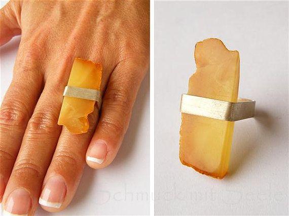 Amber Ring Silver 925 NEW von JewellryWithSoul auf Etsy