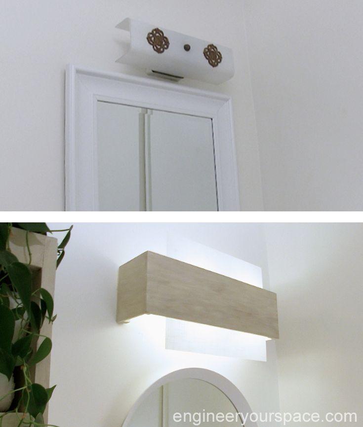 151 best diy lighting images on pinterest lights diy - Cost to install bathroom light fixture ...