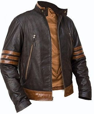 X-Men Wolverine leather jacket, x men movie leather jacket, brown leather jacket
