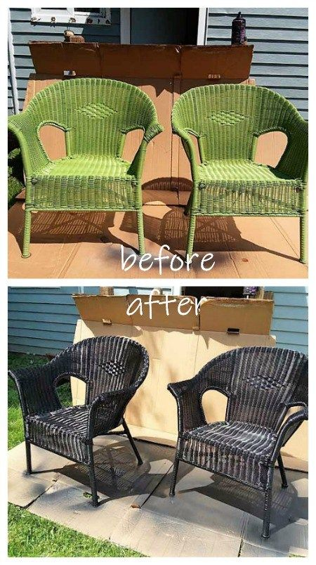 How To Spray Paint Resin Wicker Chairs, If You Dare | Pinterest | Wicker  Chairs