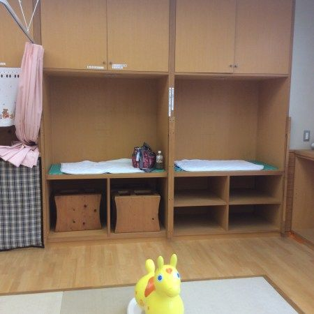 HIGASHIMATSUYAMA ★★★★☆ SOLE.Free for kids, 200 yen for adults. Pictured Koala room for babies. Nappy Change Area