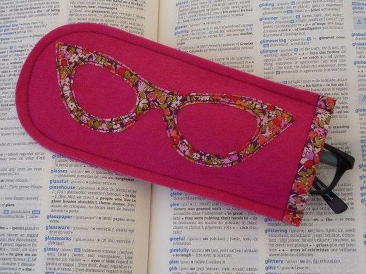 hacer fundas para gafas con fieltro