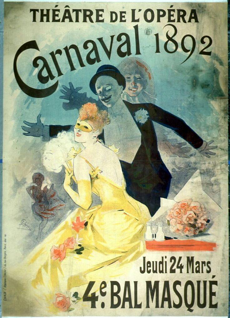 Bal Masqué à l'Opéra de Paris.  1892.