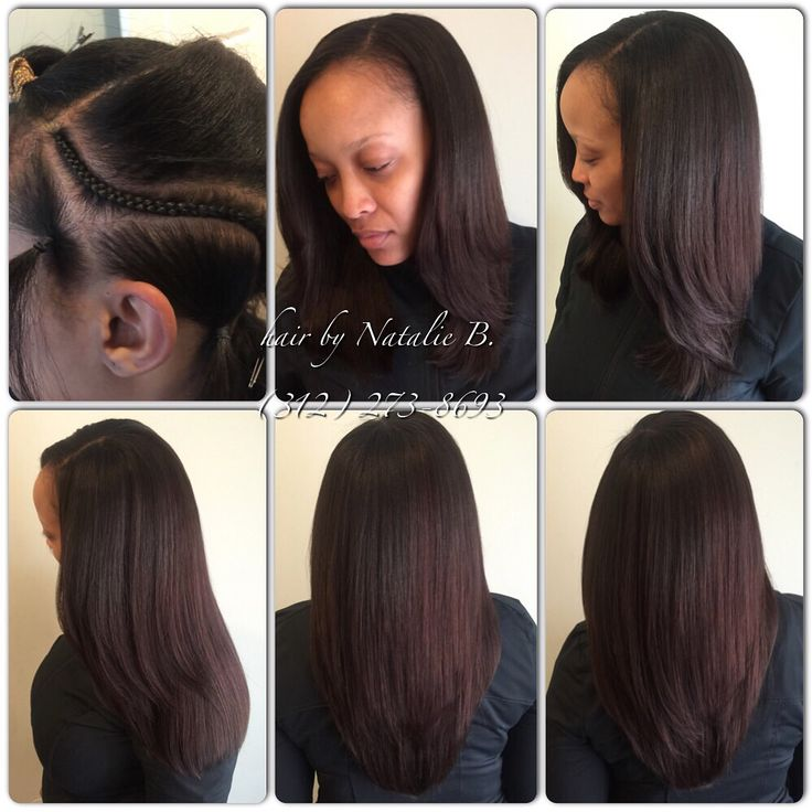 Full head sew in? No hair out is it Natural Lookin - Black ...