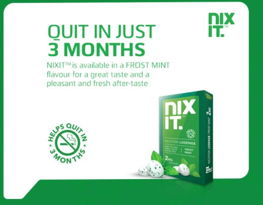 Nicotine Chewing Gum - Nixit introducing #StopSmokingLozenges, let's quit smoking in just 3 months and live a healthy life.