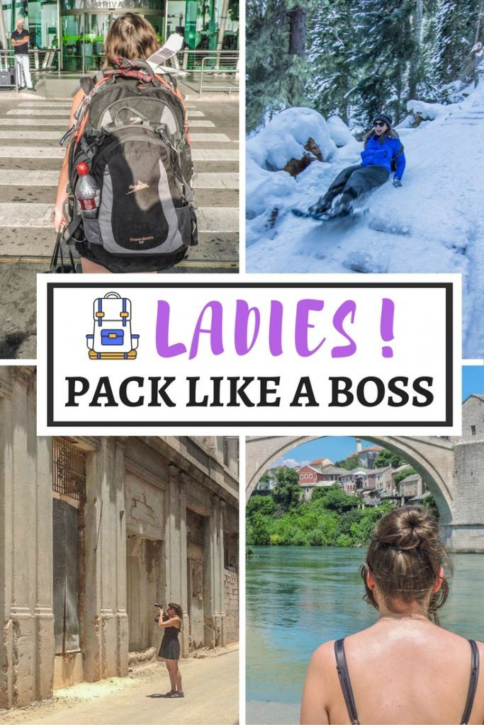 Pack for success with this female travel packing list.