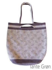 Hæklet taske med lang rem