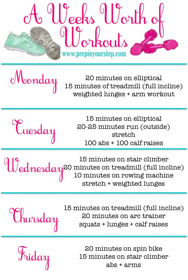 Best 25+ Weekly workout routines ideas on Pinterest ...