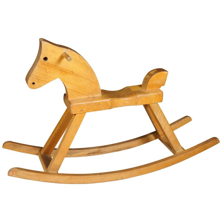 Danish 1960s Beech Rocking Horse by Kaj Bojesen | From a unique collection of antique and modern toys at http://www.1stdibs.com/furniture/more-furniture-collectibles/toys/