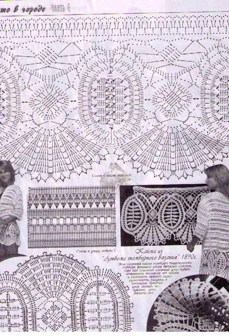 105 best Crochet - Borders images on Pinterest | Häkelborten ...