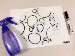 Marker and Coffee Filter Silhouette Art Lesson - A fun and creative Fall Themed art project! Lesson can be adapted PreK- 5th grade
