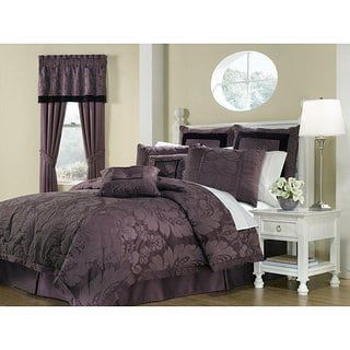 Lorenzo Purple 8-piece King-size Comforter Set | Overstock.com Shopping - The Best Deals on Comforter Sets