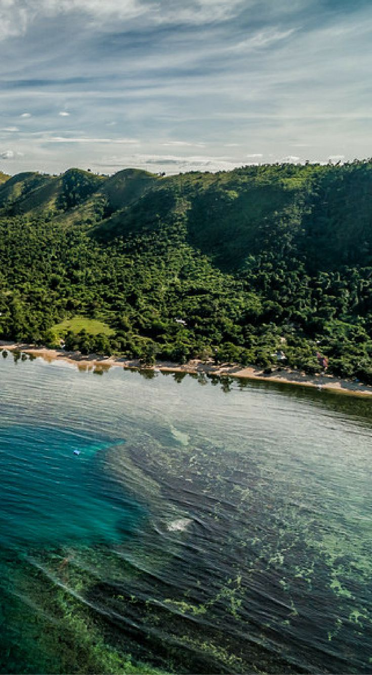 Drone view of Busuanga Island coastline in the Philippines near Palawan Sandcastles Resort.  Busuanga is rough, rustic and virtually untouched. Click to see all 25 Amazing Drone Photos of the Philippines by the Divergent Travelers Adventure Travel Blog at http://www.divergenttravelers.com/drone-photos-of-the-philippines/