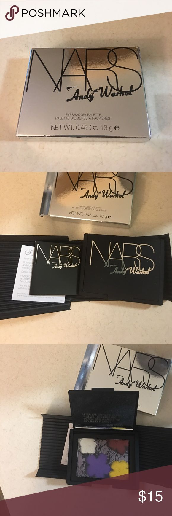 NARS Andy Warhol eyeshadow palette Limited edition flowers 1 new in box, just taken out for picture NARS Makeup Eyeshadow