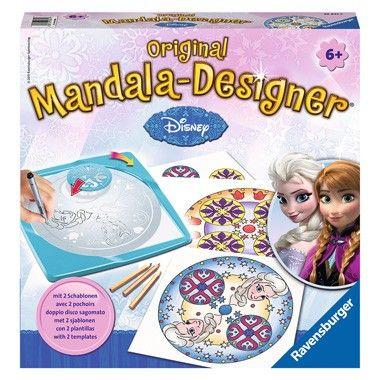 Ravensburger mandala-designer Disney Frozen  Maak met deze Disney Frozen 2-in-1 mandala-designer van Ravensburger honderden verschillende mandala's. Met de stiften kleur je de mandala's prachtig in.  EUR 14.99  Meer informatie