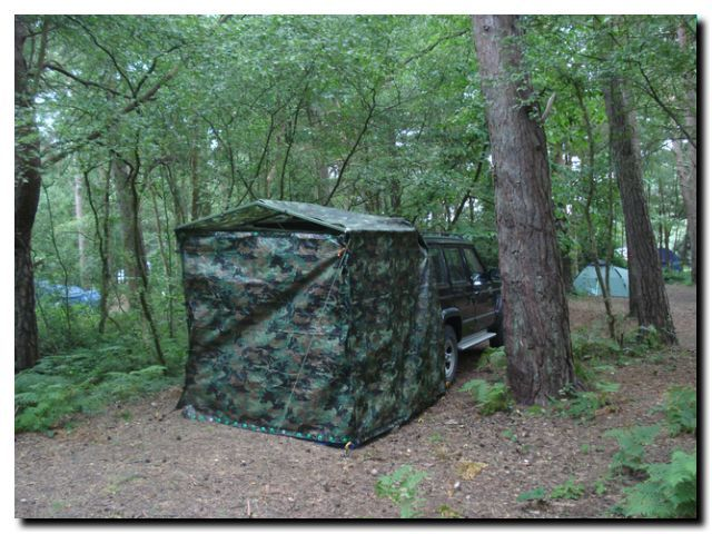 plans to build a jeep tent to go camping in a jeep cherokee xj