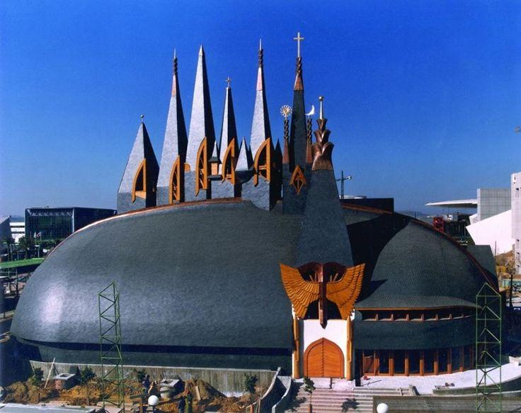 Hungarian Pavilion in Seville, Imre Makovecz, 1992
