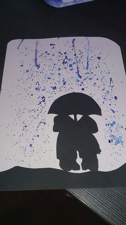 Raindrops keep falling.... Spetters van verf