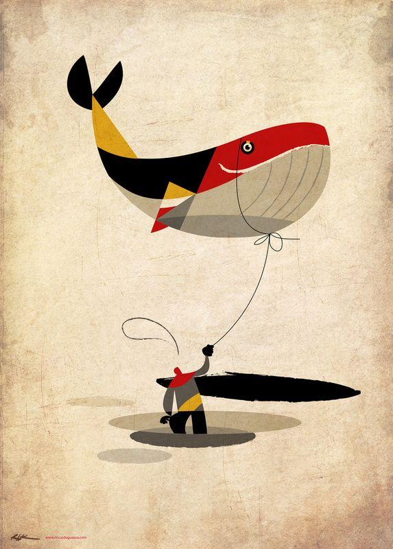 Baleine: Riccardo Guasco, Buy Thoughts, Artworks Byriccardo, Society6 Com, Art Prints, Illustration, Poster, Graphics Design, Whales