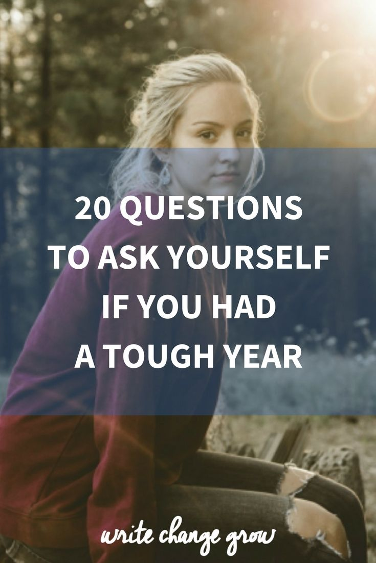 Wow, this was so helpful!   Definitely read this if you've had a hard year: 20 Questions to Ask Yourself if You Had a Tough Year
