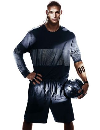 West Ham United footballer Andy Carroll in Alexander Wang for H&M campaign