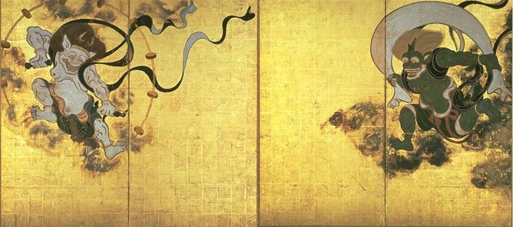 『風神雷神図』俵屋宗達(建仁寺蔵)国宝