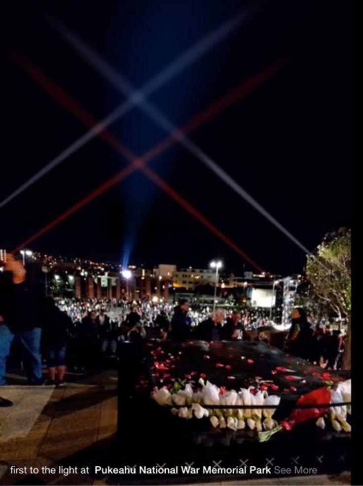 War memorial light display - what a great idea for redpeak