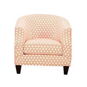 Nebraska Furniture Mart – Bauhaus Finch Fabric Caine Chair in Orange