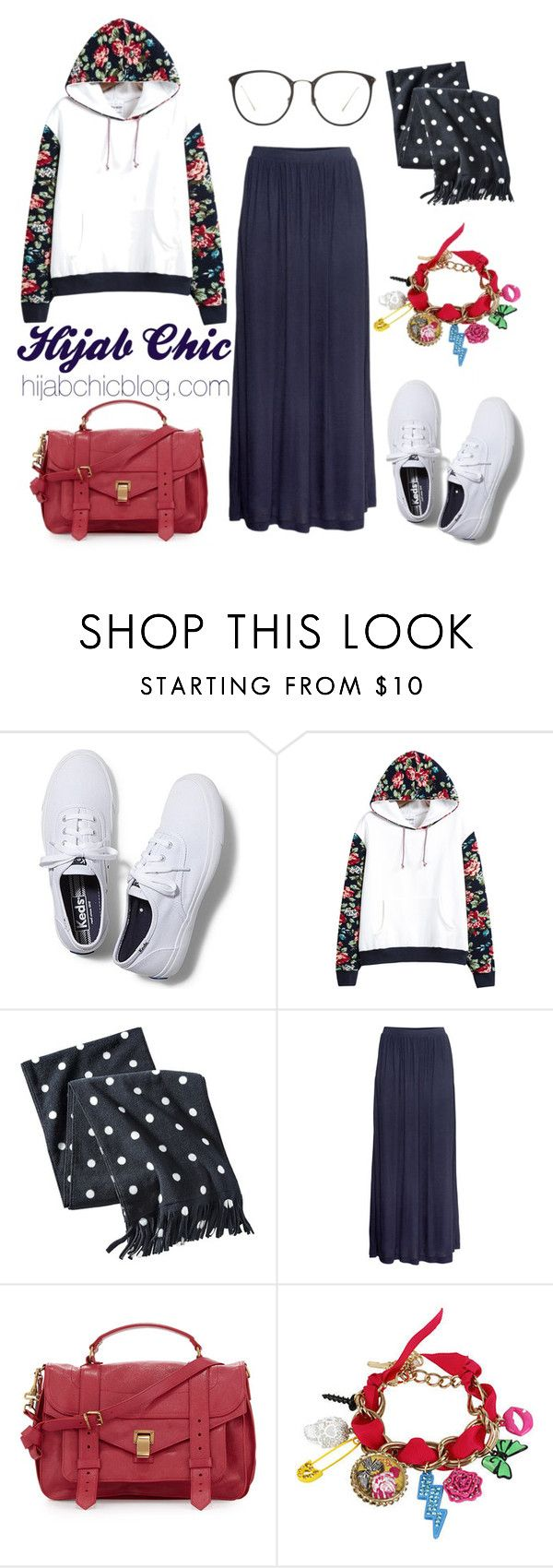 """""""Hijab Chic"""" by hijab-chic on Polyvore featuring Keds, Merona, H&M, Proenza Schouler, Betsey Johnson and Linda Farrow"""