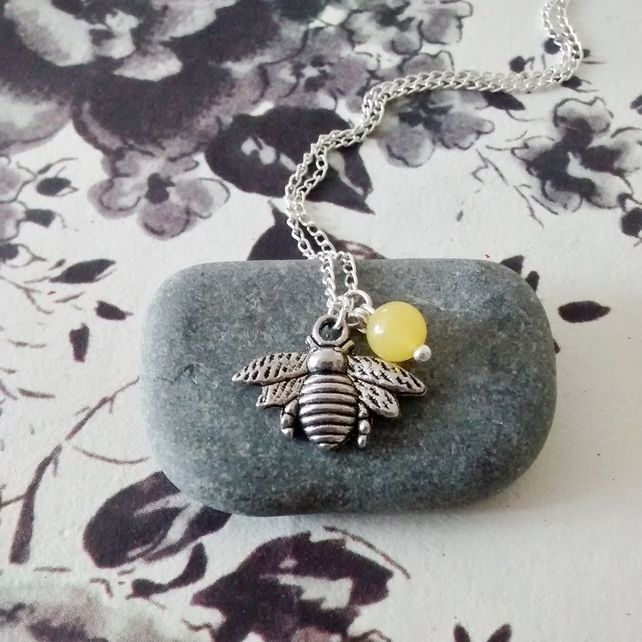 Bumble Bee Necklace - Yellow