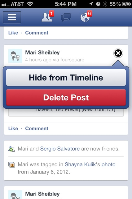 Choose / Button / Close / Delete / Facebook / Post / Iphone