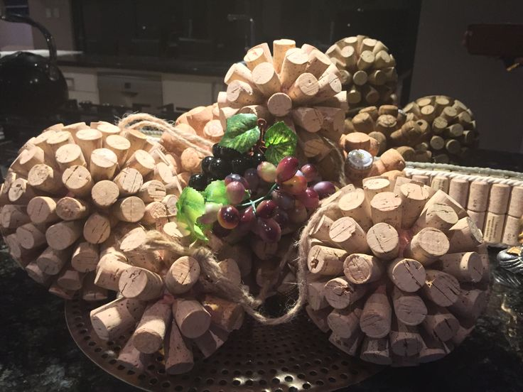 Recycled Wine and Champagne Balls. Wine Decor. DYI wine crafts.