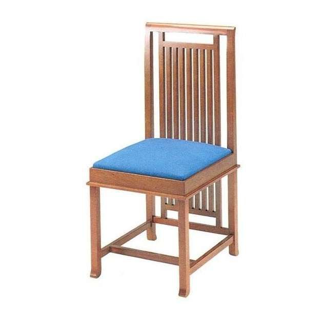 Frank-Lloyd-Wright-Robie-Chair-Wood-Leather