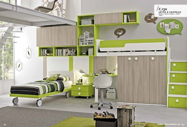 Modern olasz stílusú emeletes ágy Colombini