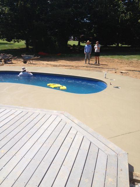 18 best fiberglass pool install 19 images on pinterest for Fiberglass pool installation